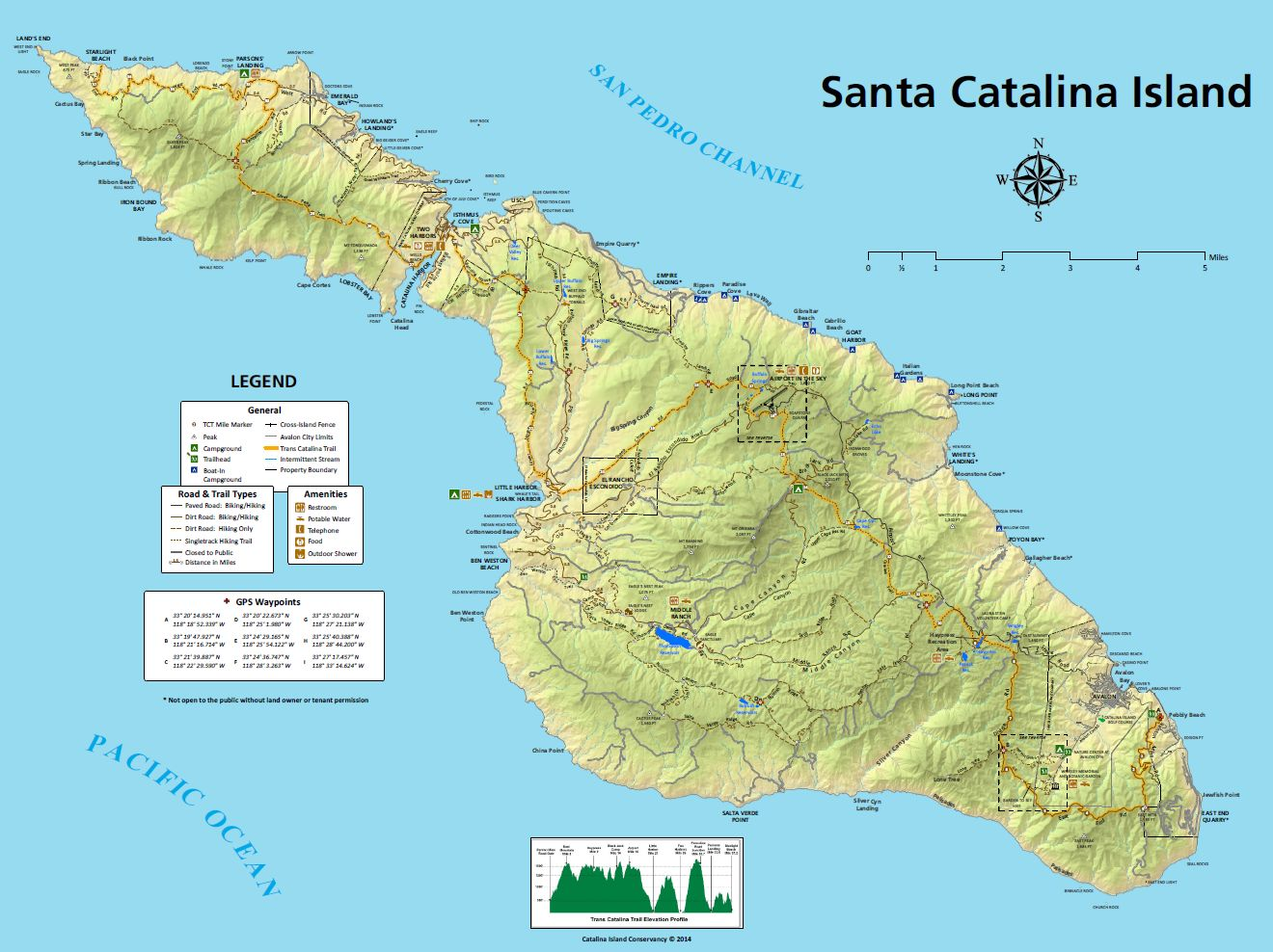 Trans-Catalina Trail Map Preview
